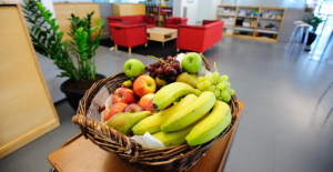 fruits frais au bureau